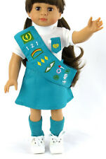 "Girl Scout Outfit Costume 18"" American Girl Doll Clothes 4 Piece Set"
