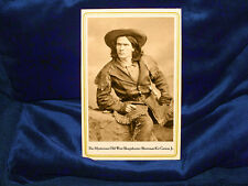 KIT CARSON JR. Cabinet Card Photograph Old West Sharpshooter Showman Vintage