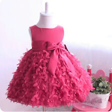 Flower Girls Princess Wedding Party Pageant Gown Kids Baby Bow Christmas Dress