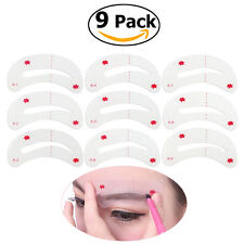 9*WINOMO Easy Class Drawing Guide Eyebrow Stencils Card Make Up Template Helper