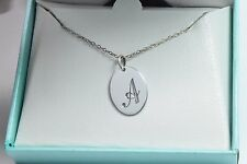 Cursive A Pendant with 18 Inch Chain Both in .925 Solid Sterling Silver Necklace