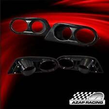 2001-2006 Black Ham H Style ABS Fog Lights Covers For BMW E46 3-Series