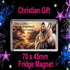 Psalms 23v1 - Christian Bible Quote - Christian Fridge Magnet- Christian Gift