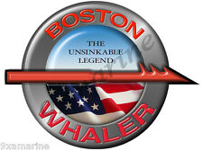 "Boston Whaler Remastered Name Plate Decal 7"" Diameter"
