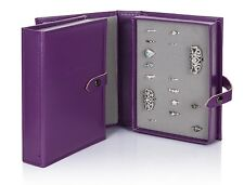 Little Book Of Rings Purple Large 1 Page Jewellery Holder Storage Box Book Gift