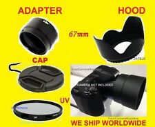 ADAPTER+UV FILTER+LENS CAP+FLOWER HOOD 67mm For CAMERA NIKON COOLPIX L330 L 330