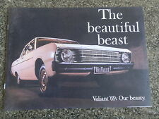 1969 VF CHRYSLER VALIANT  BROCHURE '''MINT'''