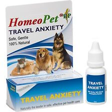 HomeoPet Anxiety Travel Dog Cat & Pet Calming Treatment Fear Fretting Control