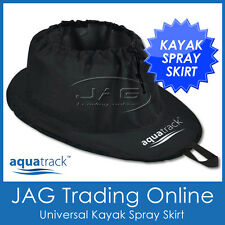 AQUATRACK KAYAK/CANOE SPRAY DECK SKIRT- Black Ripstop Nylon Universal Fit Waist