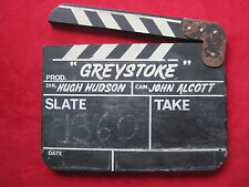 EDGAR RICE BURROUGHS - ORIGINAL CLAPPERBOARD FOR GREYSTOKE- THE 1984 TARZAN FILM