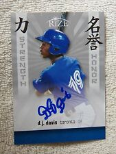 Toronto Blue Jays D.J. Davis Signed 2012 Leaf Rize Strength & Honor Card Auto