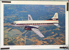 AFFICHE ANCIENNE AVION DELTA AIR LINES SUPER CONVAIR 340 - N4814C