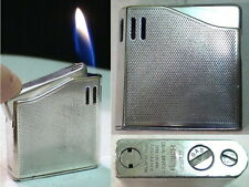 Briquet Ancien @ MARUMAN Halley DL-6 Plaque Argent @ Vintage lighter Feuerzeug