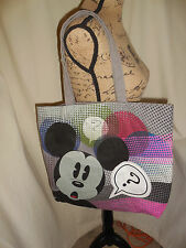 DISNEY MICKEY MOUSE CANVAS TOTE/BAG NEVER USED  EUC