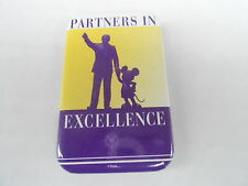 VINTAGE PROMO PINBACK BUTTON #88-043 - DISNEY - PARTNERS IN EXCELLENCE