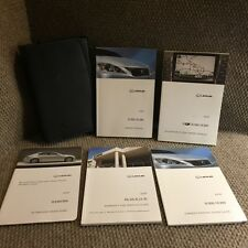 2009 Lexus IS250 IS350 OEM Owners Manual Set with Navigation guide and case
