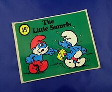 Smurfs Shop Display Sticker - Vintage Unused Stock