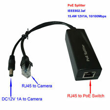 Power over Ethernet PoE Splitter Adapter Injector 12VDC 1A  for CCTV IP Camera