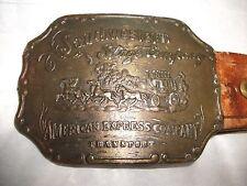 Vintage Southwestern Stage Company American Express Transport Belt Buckle & Belt