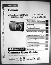 Canon Powershot SD900 IXUS 900 Ti  Digital Camera User Guide Manual