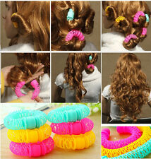 8 Pcs/lot Hairdress Magic Bendy Hair Styling Roller Curler Spiral Curls DIY Tool