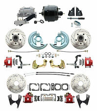 1964-72 A, F, X Body D/S 4 Wheel Disc Brake Performance Conversion Kit, Red
