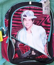 "Austin MAHONE Full Size Glittery Canvas Backpack NeW Book Bag Tote 16""x12"" NWT"