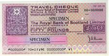 SPECIMEN,ROYAL BANK OF SCOTLAND LIMITED,LONDON ENGLAND, 50 POUND NOTE/CHEQUE