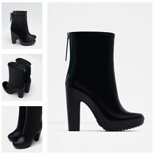 ZARA HIGH HEEL RAIN BOOTS US6, EU36, UK3 Ref 5111/001 Brand New