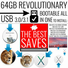 64GB USB 3.0 BOOTABLE MAC OS X SNOW LEOPARD MOUNTAIN EL CAPITAN YOSEMITE SIERRA