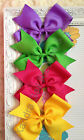 "Lot 12- Extra Large 6"" Girls Boutique Hair Bows, U Pick your colors! Hairbow"