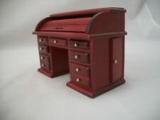Desk - Roll Top - miniature dollhouse wooden furniture  T3434 1/12 scale