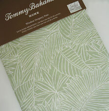Tommy Bahama TROPICAL GREEN Leaf *2 WINDOW PANELS CURTAINS 52x96 Rod JUNGLE JIM