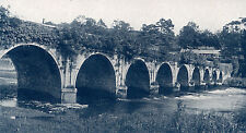 Inistioge Bridge, Co. Kilkenny, Ireland 1923 antique print in mount SUPERB