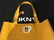 DKNY FRENCH GRAIN LEATHER WORK TOTE Handbag
