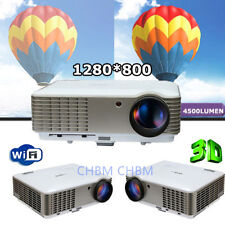 3D 1080P Casa Proyector 4500 lumens HD HOME THEATER MULTIMEDIA USB HDMI VGA LED