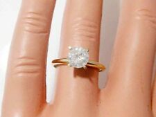 0.80ct Genuine Untreated Diamond Solitaire Engagement Ring Solid 14K Yellow Gold