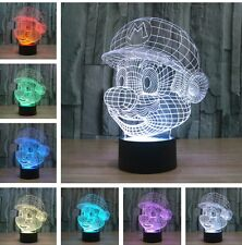 3D Super Mario LED Night Light 7 Color Touch Switch Table Desk lamp