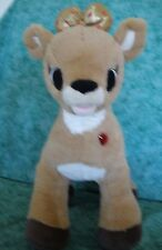 BUILD A BEAR WORKSHOP~CLARICE DOLL~GOLD 50th ANNIV. BOW~RUDOLPH~LIGHT UP HEART