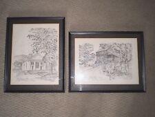 """Lot of (2) Vintage FRAMED CHARLES H. OVERLY PRINTS """"Old Sturbridge Village"""""""