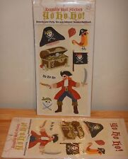1 NEW 1 Used Reusable Pirate 73 Wall Stickers Yo Ho Ho Kids Lot Meri Meri Party