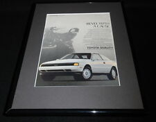 1989 Toyota Celica GT-S Framed 11x14 ORIGINAL Vintage Advertisement