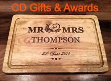 PERSONALISED WOODEN CHOPPING BREAD CHEESE BOARD, WEDDING, ANNIVERSARY, BIRTHDAY