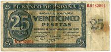 BILLETE DE 25 PESETAS DE 1936 (BC) BURGOS (SERIE R)