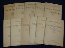 1943-1948 AMERICAN REVIEW OF SOVIET MEDICINE MAGAZINE LOT OF 27 ISSUES - O 2114