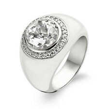 Anello TI SENTO Milano Sterling Silver White Enamel Ring nuovo  1844EW /56 m. 16