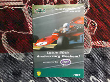 1998 BRANDS HATCH PROGRAMME 7/6/98 - LOTUS 50th ANNIVERSARY WEEKEND - BRSCC