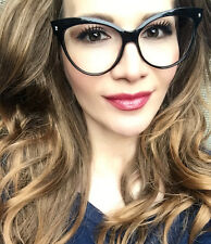 Large Cat Eye Black Pin up Nerdy Mohotani Big Clear Lens Sexy Glasses Frames Hot