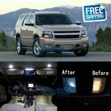 White LED Lights Interior Package Kit For 2007-2014 Chevrolet Tahoe