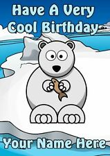 Have A Cool Birthday Polar Bear Kids Birthday Card PIDI80  A5 Personalised